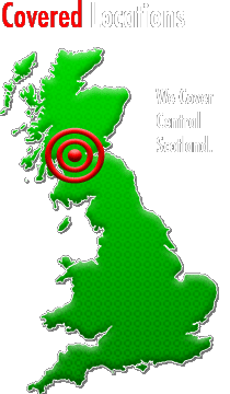 We cover Central Scotland, Including Glasgow, Edinburgh, Stirling, Falkirk, Cumbernauld, Clackmannan and more...